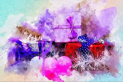 Digital Paint Painting - Gift Box by ArtMarketJapan