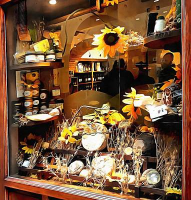 Photograph - Gift Shop Window Pienza by Dorothy Berry-Lound