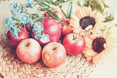 Photograph - Gifts Of Autumn Retro Style by Marina Usmanskaya