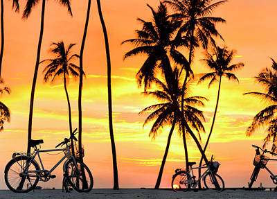 Photograph - Gili Bikes by Sean Davey