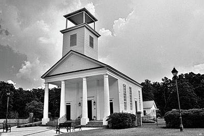 Photograph - Gillisonville Baptist Church Ridgeland South Carolina Black And White by Lisa Wooten