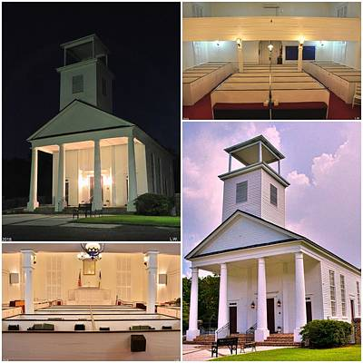 Photograph - Gillisonville Baptist Church Ridgeland South Carolina Collage by Lisa Wooten