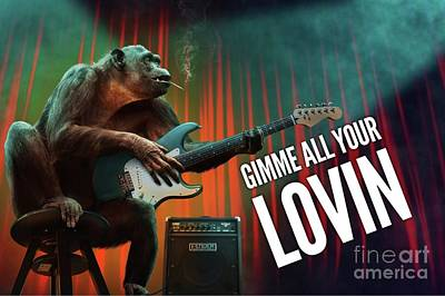 Jazz Royalty-Free and Rights-Managed Images - Gimme All Your Lovin by Esoterica Art Agency