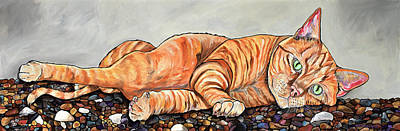 Painting - Ginger On The Rocks With A Twist by Patti Schermerhorn