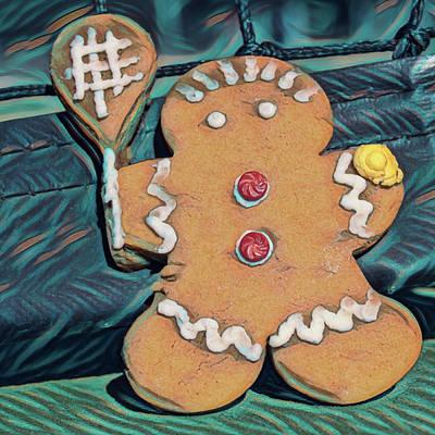 Photograph - Gingerbread Tennis Girl Square by Dan McManus