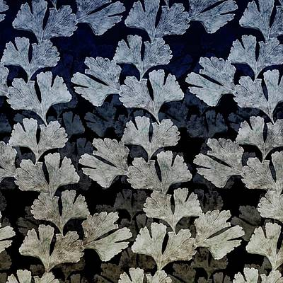 Digital Art - Ginko Leaf Pattern by Sand And Chi