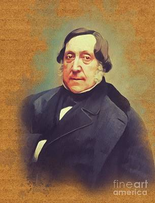 Recently Sold - Music Paintings - Gioacchino Rossini, Music Legend by Esoterica Art Agency
