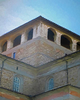 Digital Art - Giotto's Campanile Rooftop Florence Italy by Tony Grider