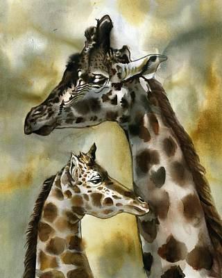 Painting - Giraffe by Alfred Ng
