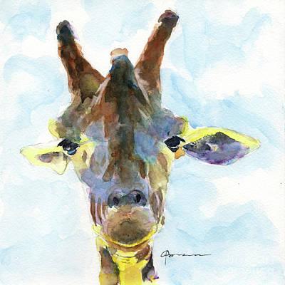 Painting - Giraffe No 2 by Claudia Hafner