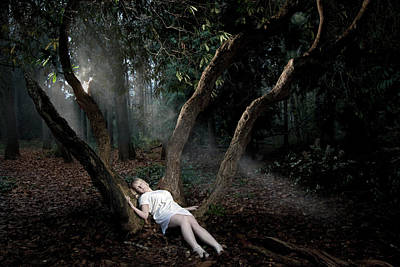 Photograph - Girl Alone In Woods by Paul Strowger