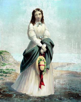 Painting - Girl By The Seashore by Carlos Diaz
