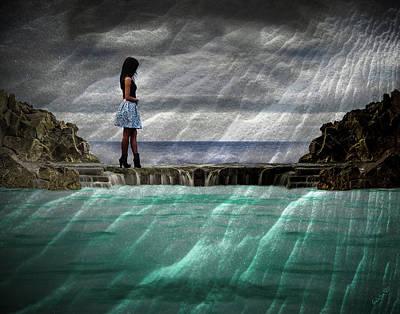 Digital Art - Girl Crossing Over by Galatia420