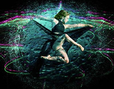 Digital Art - Girl In Exploding Bubble by Galatia420