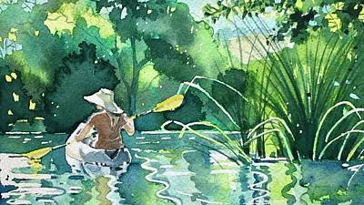 Animal Watercolors Juan Bosco - Girl in Hat by Luisa Millicent