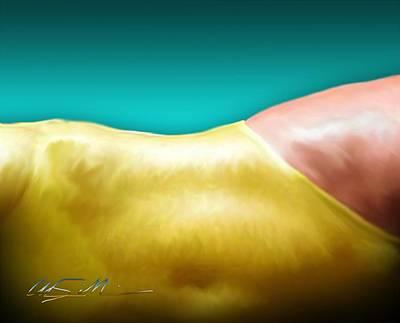 Digital Art - Girl In The Yellow Swim Suit by Chas Sinklier