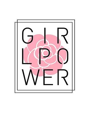 Mixed Media Royalty Free Images - Girl Power - Classy, Minimal Typography 3 Royalty-Free Image by Studio Grafiikka