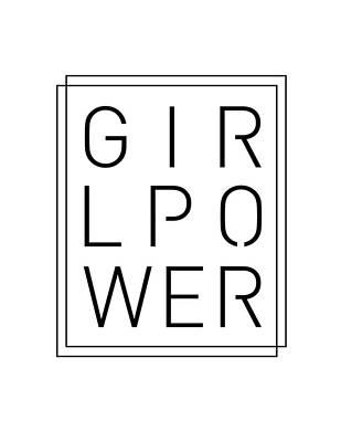 Mixed Media Royalty Free Images - Girl Power - Classy, Minimal Typography Royalty-Free Image by Studio Grafiikka
