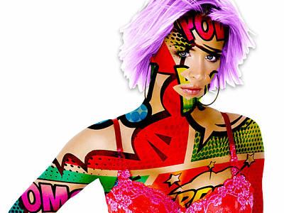 Mixed Media - Girl Power by Marvin Blaine