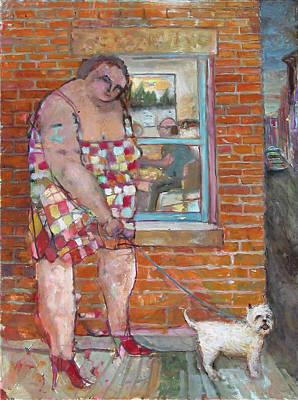 Painting - Girl With Little Dog by Paul Emory