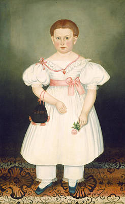 Painting - Girl With Reticule And Rose by Joseph Whiting Stock