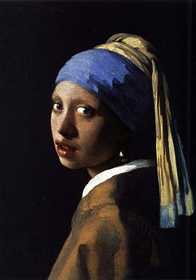 Painting - Girl With The Pearl Earring Ethnic by Tony Rubino