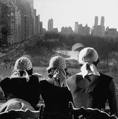 Photograph - Girls Wearing Bandannas, Looking Out Ove by Gordon Parks