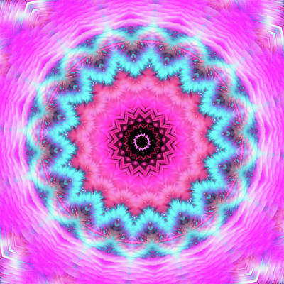 Royalty-Free and Rights-Managed Images - Girly Mandala pink and turquoise by Matthias Hauser