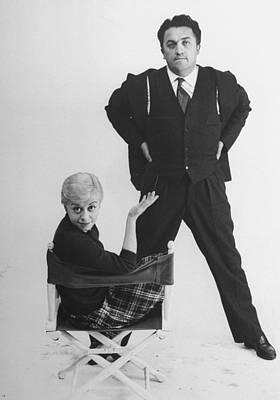 Photograph - Giulietta Masinafederico Fellini & Wife by Gjon Mili