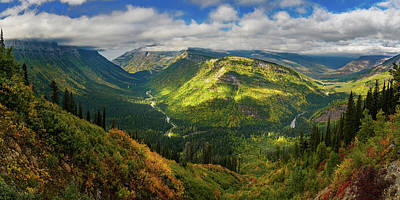 Photograph - Glacial Valley In Montana's Glacier National Park by John Hight