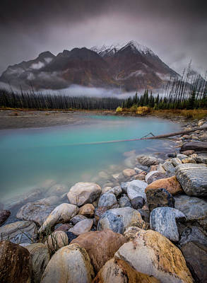Photograph - Glacial Waters / Banff, Canada  by Nicholas Parker