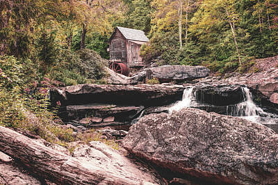 Photograph - Glade Creek Grist Mill Of Babcock State Park by Gregory Ballos