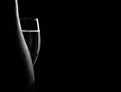 Photograph - Glass And Bottle Of Champagne by Courtneyk