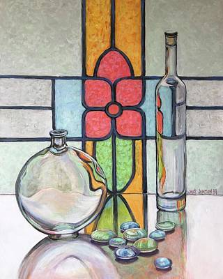 Painting - Glass And Light by Jeanette Jarmon