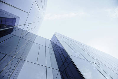 Architecture Photograph - Glass And Steel Office Building by Crossbrain66