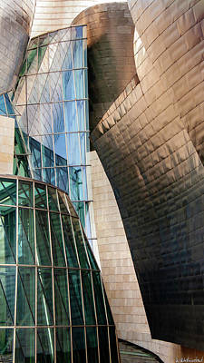 Photograph - Glass And Titanium In The Guggenheim Bilbao Spain by Weston Westmoreland