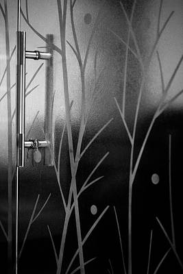 Photograph - Glass Door In Black And White by Prakash Ghai