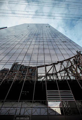 Photograph - Glass High Rise And Roosevelt Island Tram Reflection by Robert Ullmann