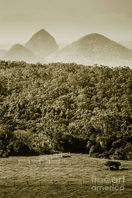 Heavy Metal - Glass House Mountains by Jorgo Photography - Wall Art Gallery