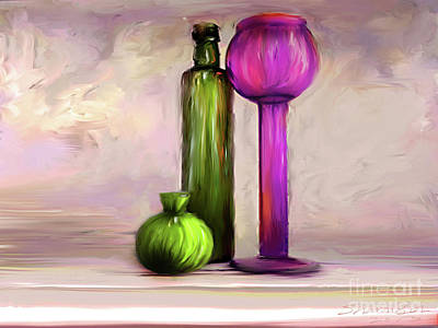 Digital Art - Glass On Glass by Sharon Beth