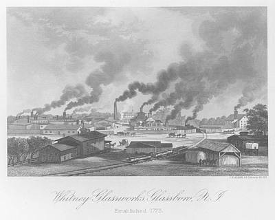 Glassworks In New Jersey Art Print by Kean Collection