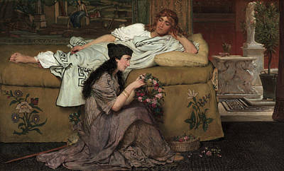 Of Roses And Love Wall Art - Painting - Glaucus And Nydia by Lawrence Alma-Tadema