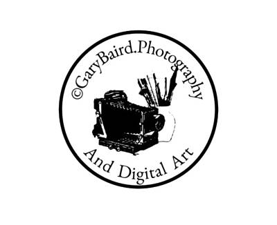 Digital Art - Glb Photography Logo by Gary Baird