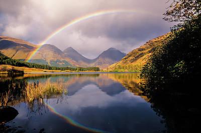 Wall Art - Photograph - Glen Etive Rainbow by Kristy Ashton