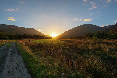 Glen Lyon Sunset Art Print