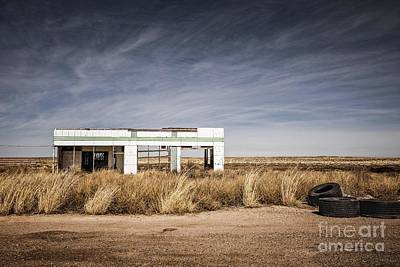 Photograph - Glenrio Abandoned Gas Station  by Imagery by Charly
