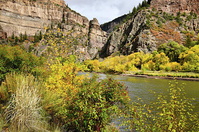 Photograph - Glenwood Canyon Goes Gold by Ray Mathis