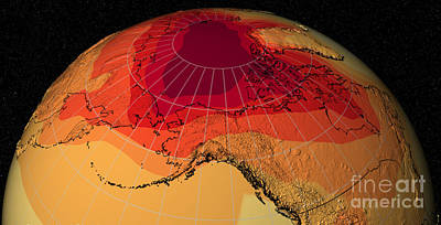 Photograph - Global Warming by NASA Center for Climate Simulation