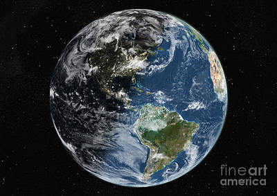 Photograph - Globe Centered On The Americas by PlanetObserver