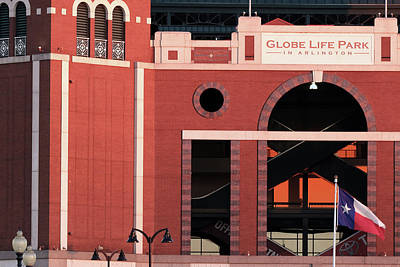 Photograph - Globe Life Park Rangers 030519 by Rospotte Photography